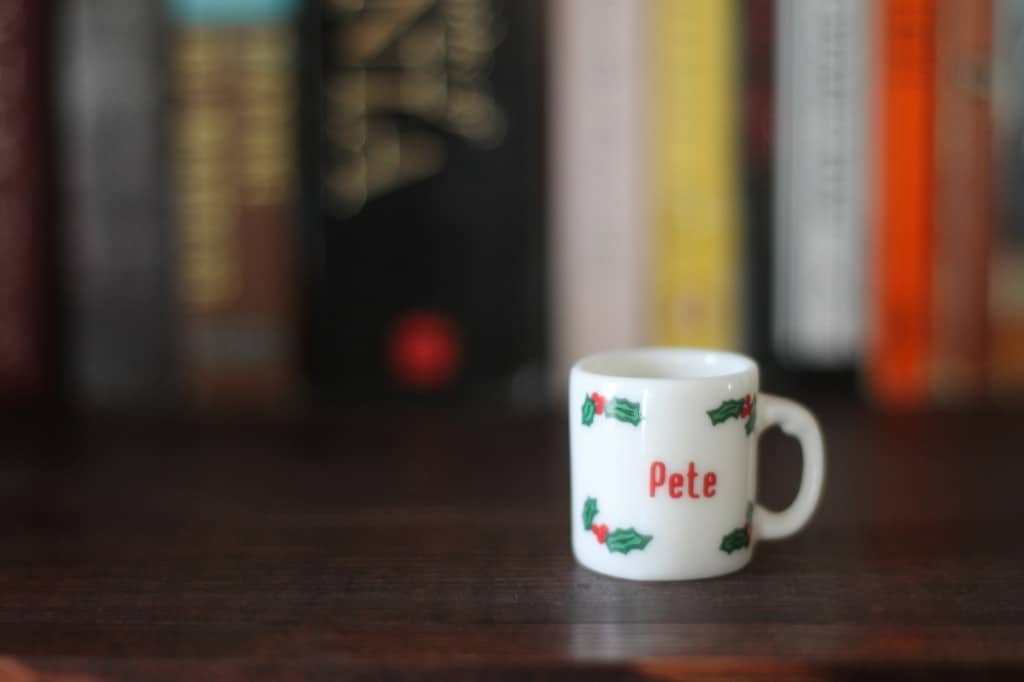 Oh what's that? Just enjoying a tiny cup of Christmas cheer.