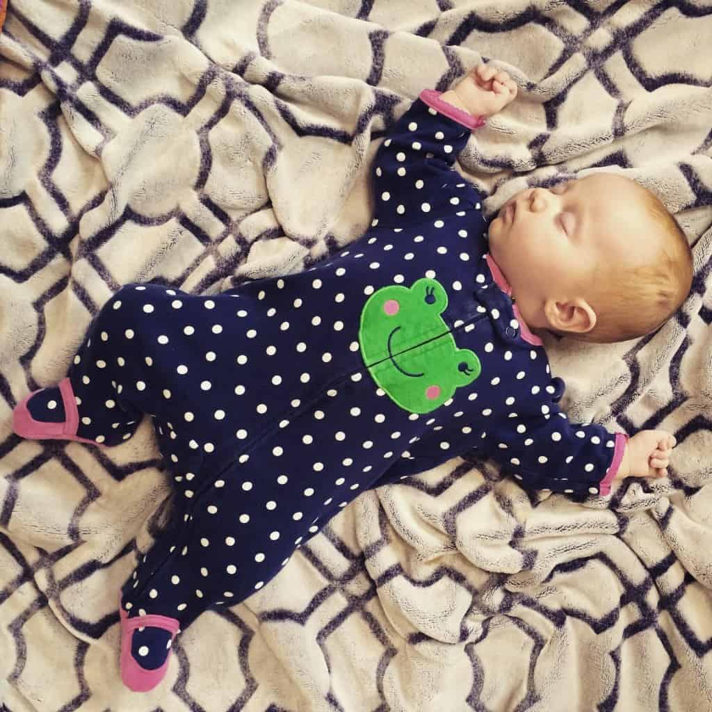 darling girl, postpartum anxiety, sleeping baby, fourth child