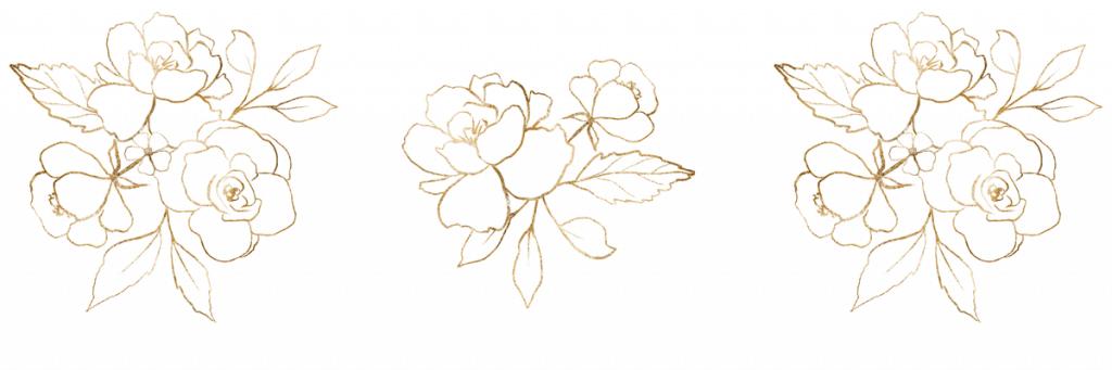 gold, ductile metal, roses